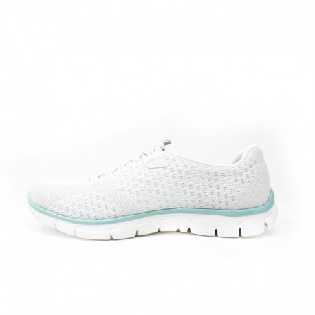 Chaussure blanche femme - Skechers Empire - ocean view