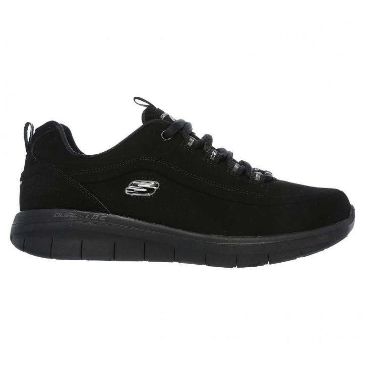 Chaussures de travail femme Skechers noirs