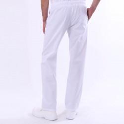 Pantalon de Cuisine Blanc derriere