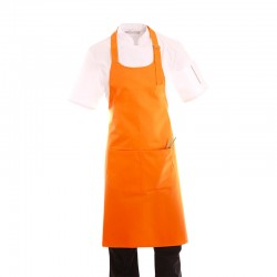 tablier a bavette orange pas cher