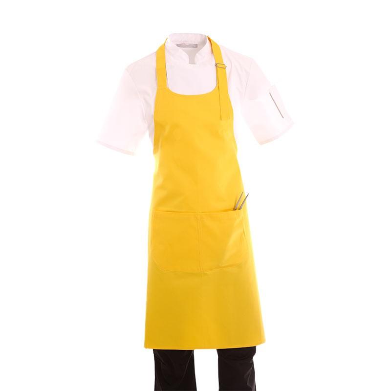 tablier de boulanger a bavette jaune