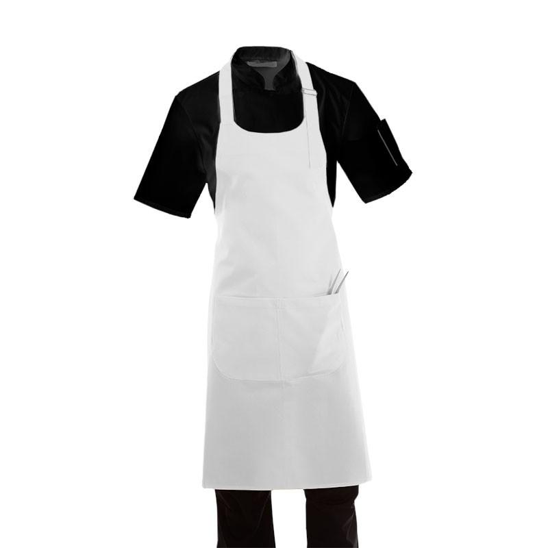 tablier a bavette blanc Manelli
