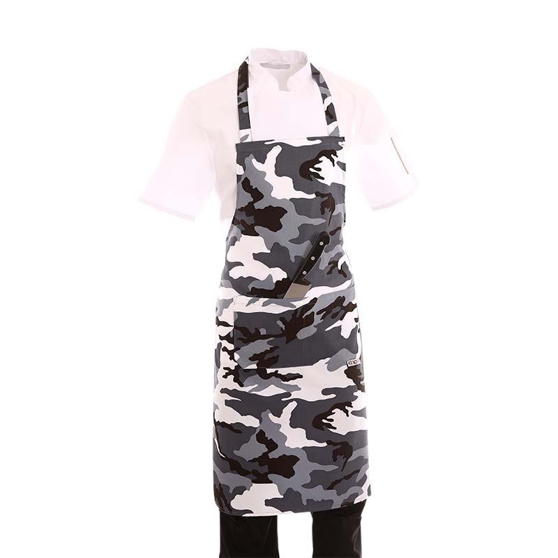 Tablier a bavette motif camouflage militaire