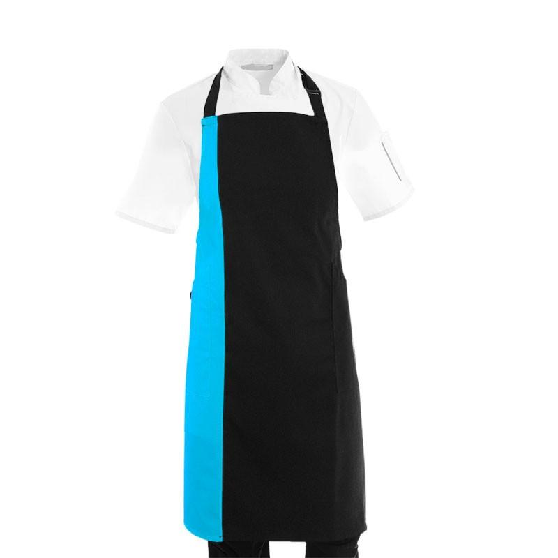 Tablier de cuisine pas cher bleu et noir