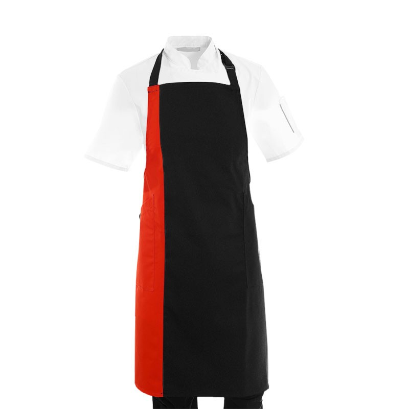 Tablier De Cuisine Bande De Couleur Rouge Manelli