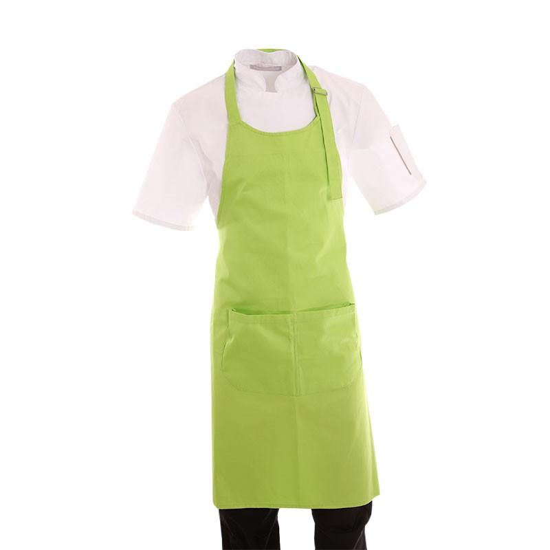 tablier a bavette vert pour homme et femme