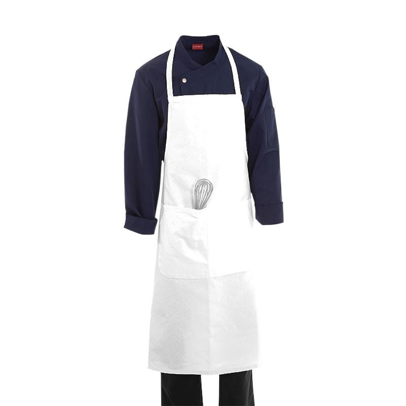 Tablier De Cuisine A Bavette Blanc 100 Coton