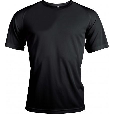 Tee Shirt Noir Respirant -...