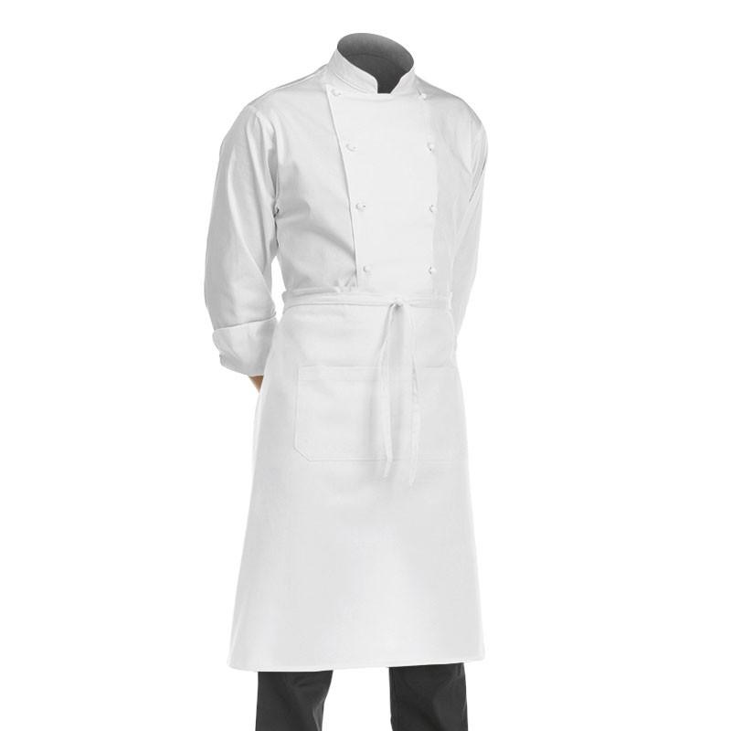 Tablier de cuisine blanc 70cm
