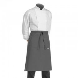 tablier de cuisine demi-chef gris EgoChef