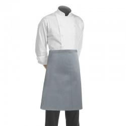 Tablier de restauration et de service gris de marque Manelli