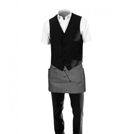 Tablier de barman gris acier - court 26 cm - Toptex