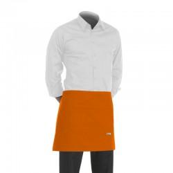 tablier de cuisinier orange ou tablier de barman orange de 40cm