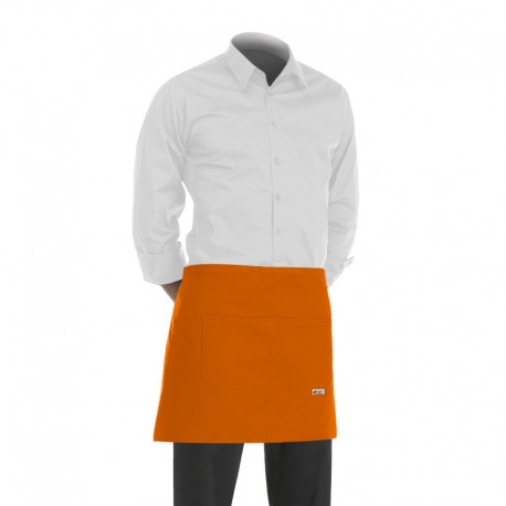 tablier de cuisinier orange ou tablier de barman orange de 40cm