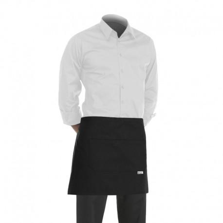 tablier de cuisine noir ou tablier de barman noir de 40cm
