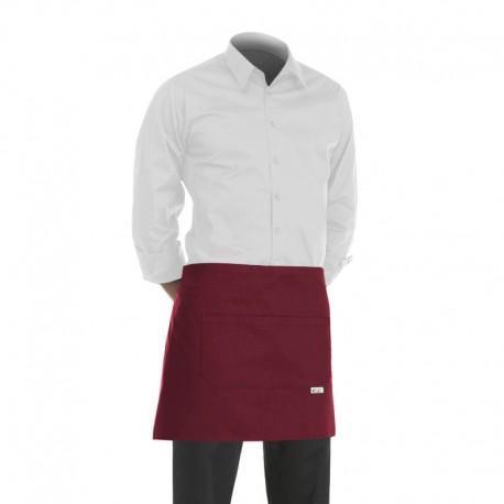tablier de service bordeaux pour serveur, serveuse, barman, barmaid, caviste