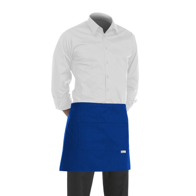tablier de cuisine court bleu (hauteur : 40cm)