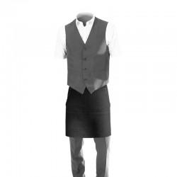 Tablier de service en jean noir - collection denim - Toptex