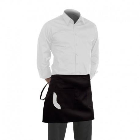 tablier de cuisine noir avec poche couleur fantaisie