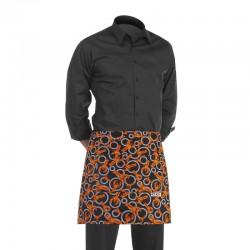 tablier de cuisine court noir avec motif homard fantaisie (h 40cm x l 70cm)