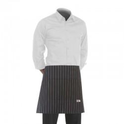 tablier de cuisine court blanc avec motif italien (h 40cm x l 70cm)