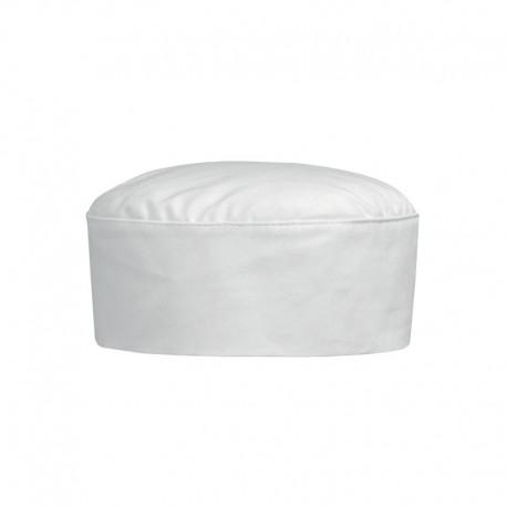 Calot de pâtissier blanc 100% coton