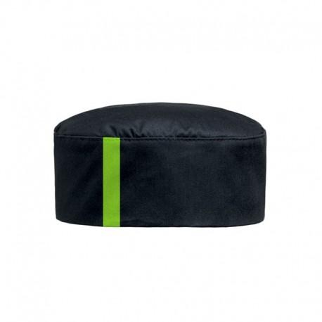 Calot noir lisere vert anis