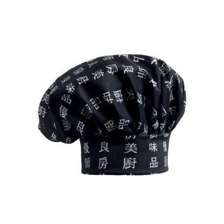 Toque de Cuisine noir motif chinois Chen-Dah