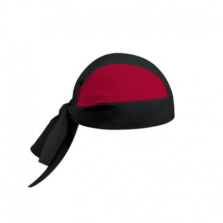 bandana de cuisine noir et rouge de la marque de vêtement de cuisine Manelli