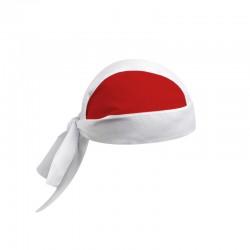 bandana de cuisinier bicolore blanc et rouge