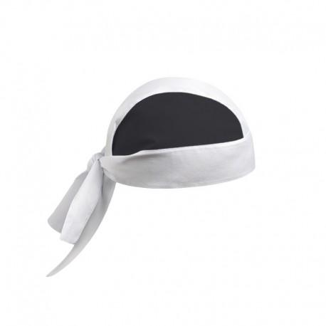 bandana de cuisinier bicolore blanc et noir