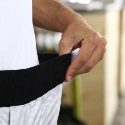 Pantalon de cuisine raye gris ceinture élastique confort