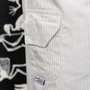 Pantalon de cuisine rayé gris poche latérale
