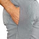 pantalon de cuisine confort carreaux noirs à poches
