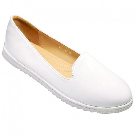Ballerines esthéticienne blanches glossy