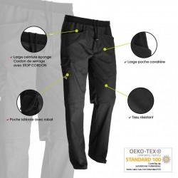 Pantalon de boucher noir confort innovations technologiques