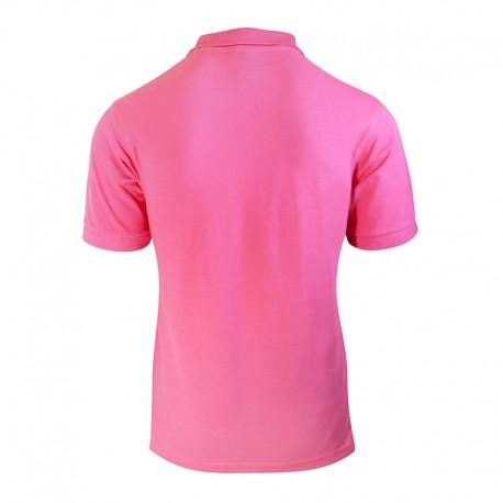 Polo homme de couleur rose vue de dos manches courtes cintré