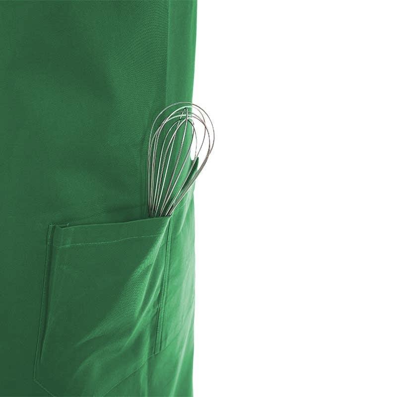 tablier vert à double poche ventrale