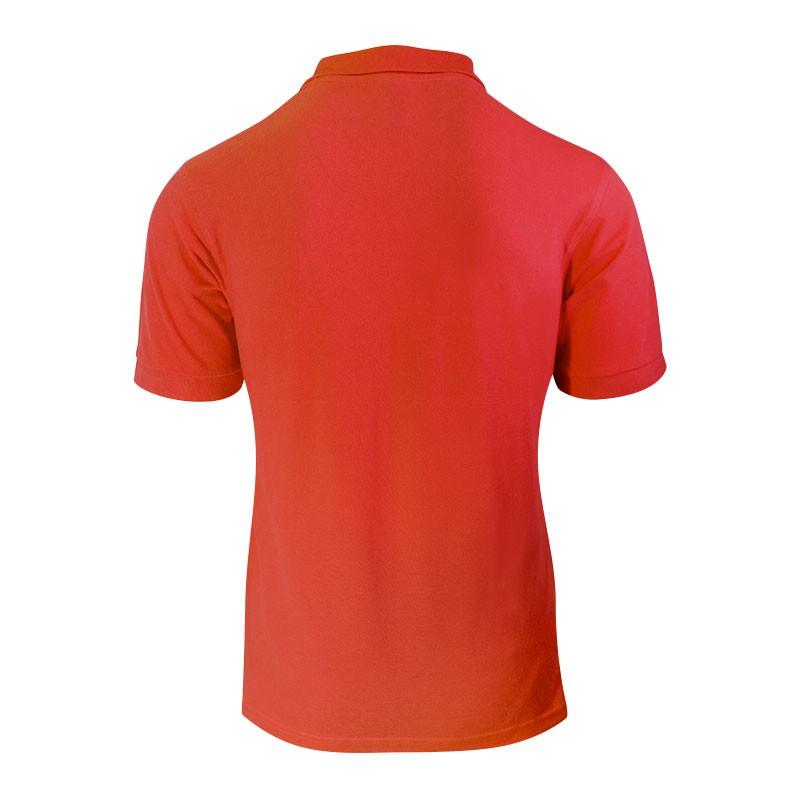 polo manches courtes de couleur rouge pour homme vue de dos