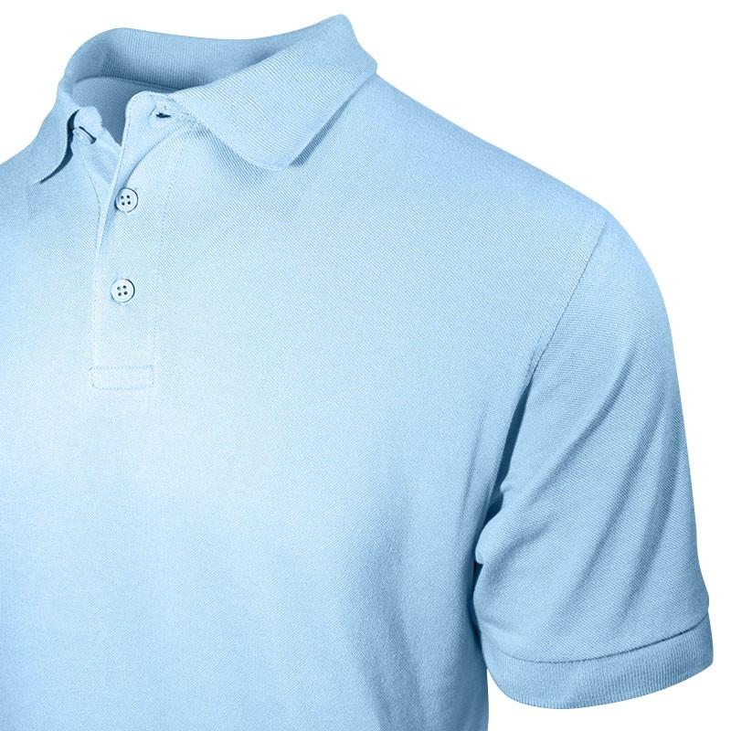 Polo bleu ciel pour homme avec vue sur poitrine et le col