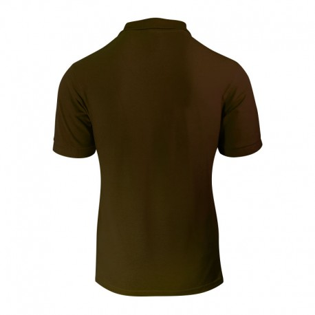 Polo de couleur marron pour homme en face arrière