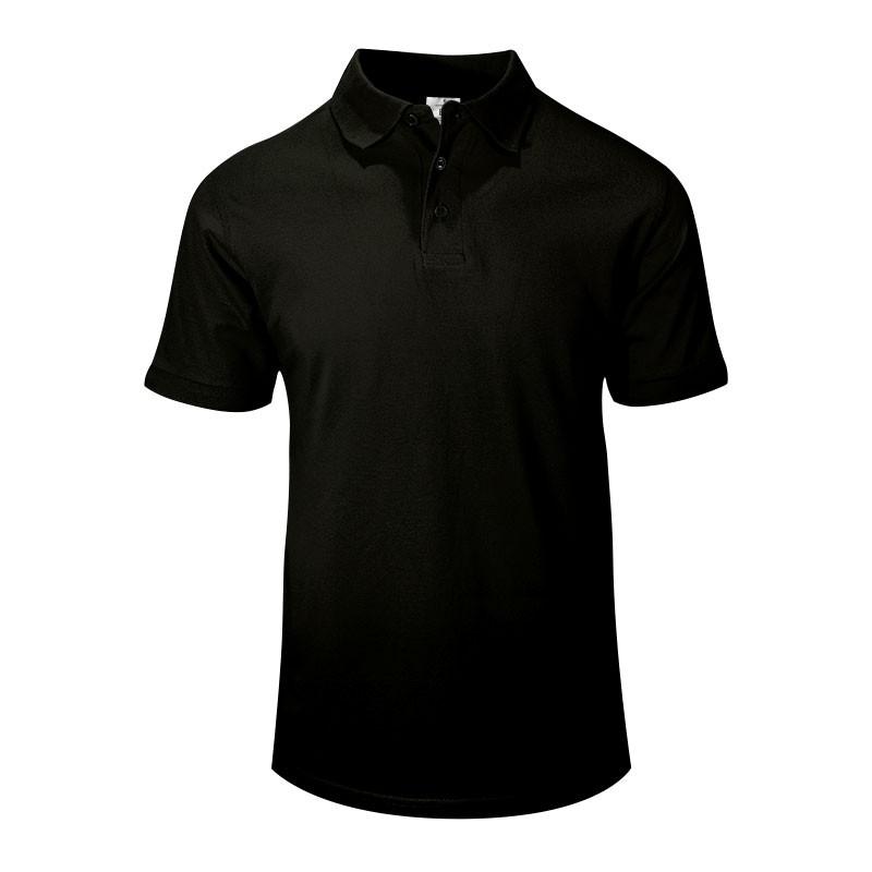Polo homme noir style serveur
