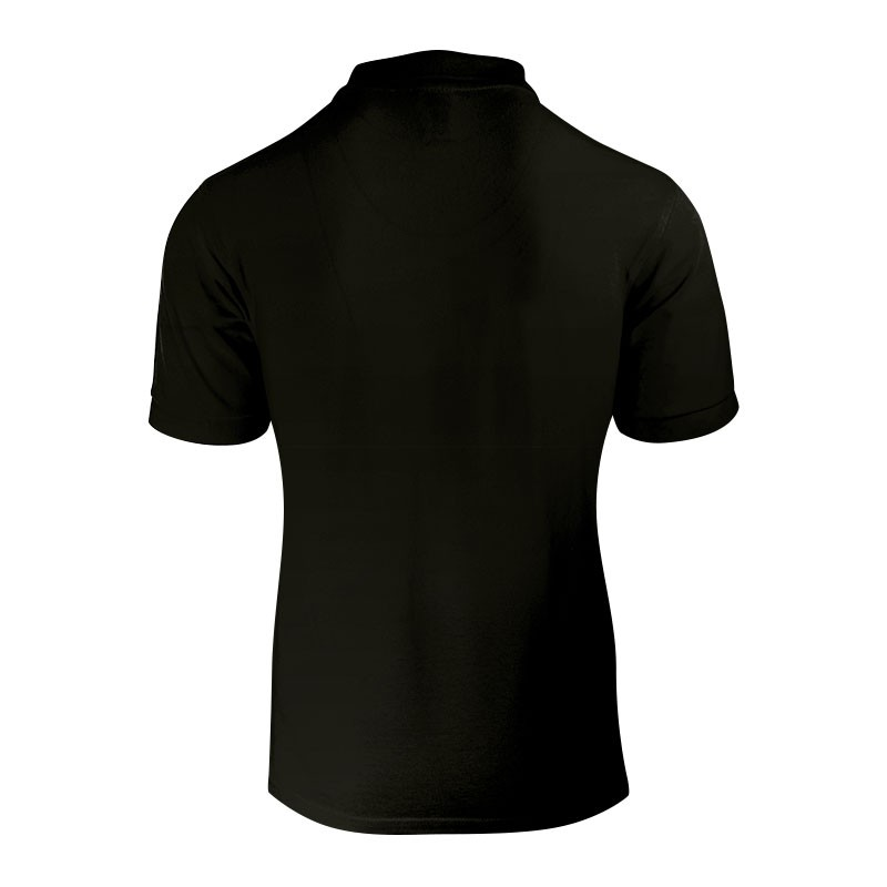 Polo homme de couleur noir vue de derrière