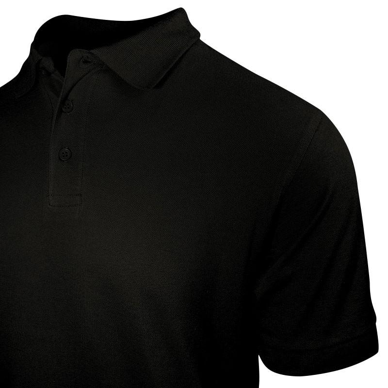 Polo homme noir style serveur à manches courtes