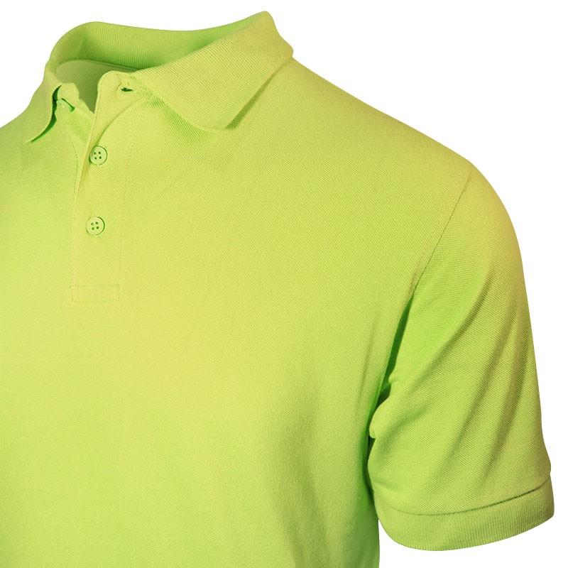 Polo homme vert clair détail au col et boutons