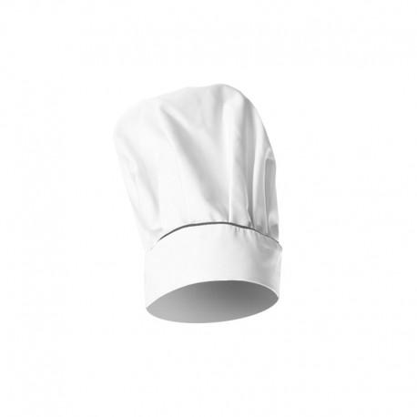 Toque de chef blanche avec liseré gris