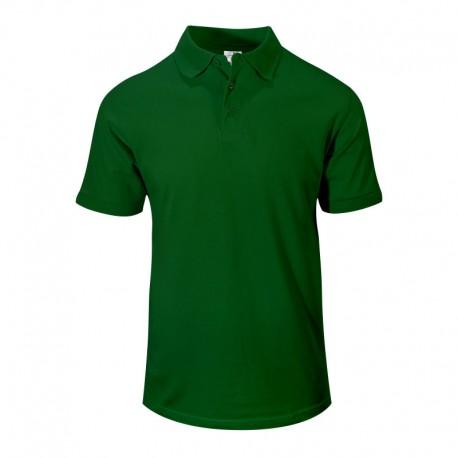 Polo homme vert à manches courtes élastiques pour les serveurs