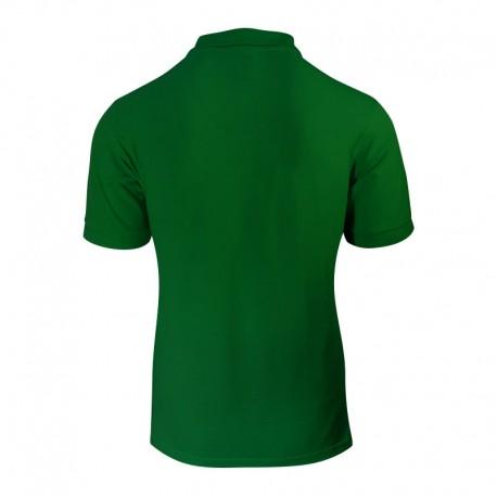 Polo homme de couleur vert vue de dos cintré