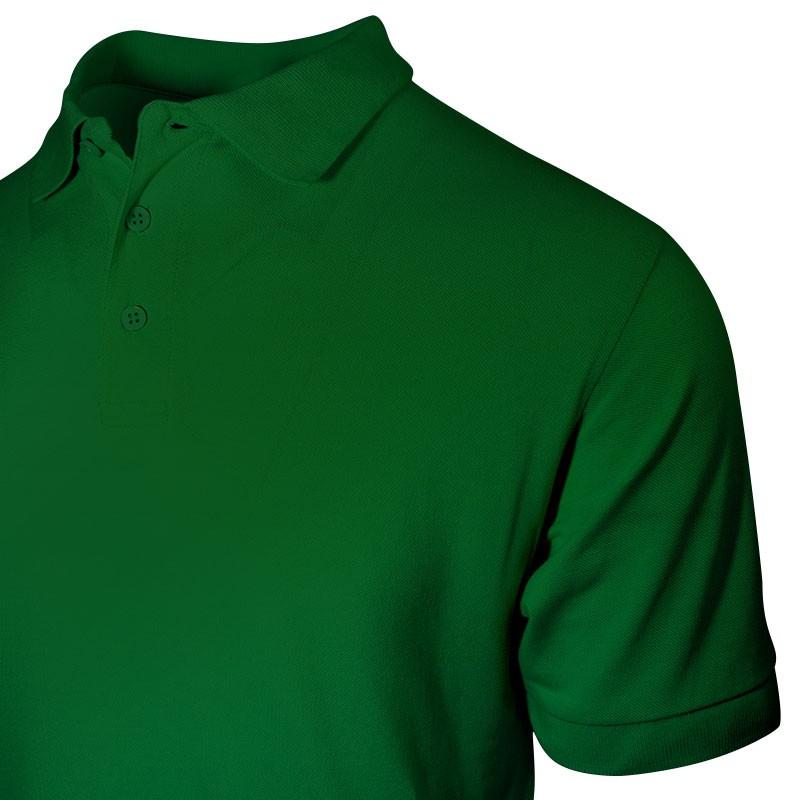 Polo vert petit prix pour les hommes détail au niveau du col