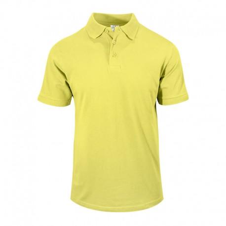 Polo homme jaune manche courtes pour serveurs